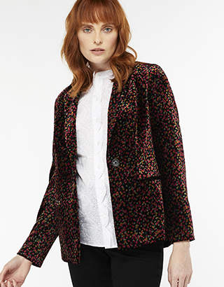 Cora Printed Velvet Jacket