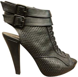 The Kooples Leather open toe boots