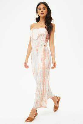 Forever 21 AnM Tie-Dye Tube Jumpsuit