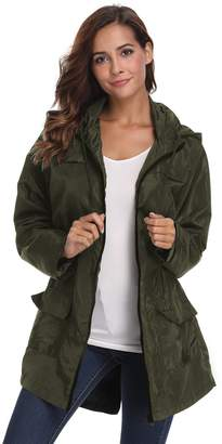 Pop lover Womens Lightweight Jackets with Hood Quick-Drying Outdoor Windbreaker 2XL