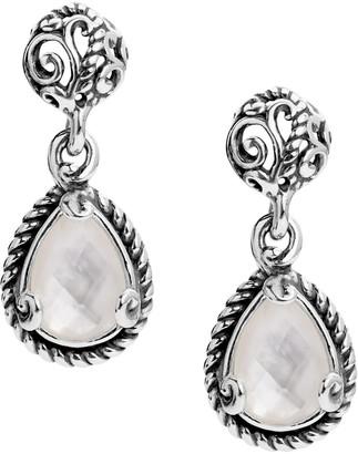 Carolyn Pollack Sterling Signature Gemstone Drop Earrings