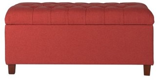 HomePop Ainsley Button Tufted Storage Bench, Multiple Colors