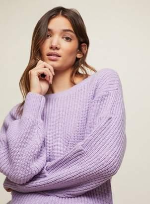 Miss Selfridge Lilac tuck sleeve knitted tunic