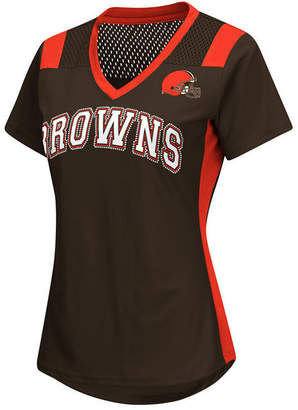 G-iii Sports Women's Cleveland Browns Wildcard Jersey T-Shirt