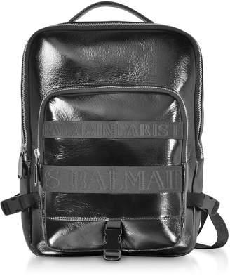 Balmain Black Leather Men's Crossbody/backpack