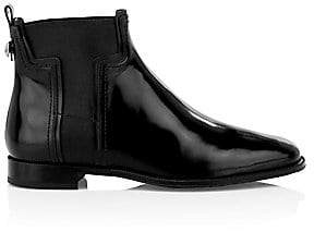 Tod's Women's T Elastic Leather Chelsea Boots