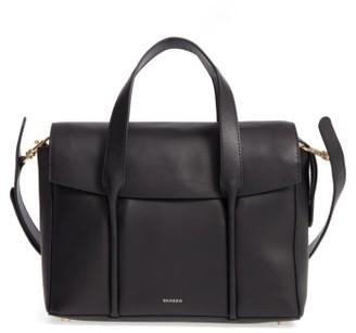 Skagen Beatrix Leather Satchel - Black $295 thestylecure.com