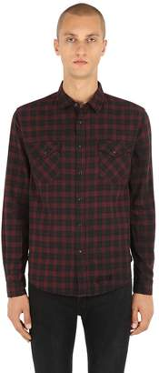 Ksubi Malcolm Plaid Cotton Herringbone Shirt