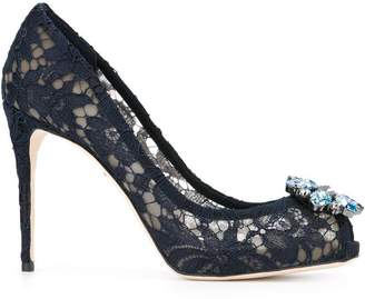 Dolce & Gabbana embellished lace pumps