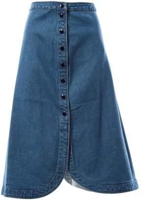 Vanessa Seward Blue Cotton Skirts