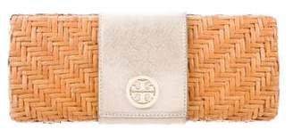 Tory Burch Rattan Straw Clutch