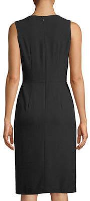 Tahari ASL Draped-Waist Sleeveless Dress