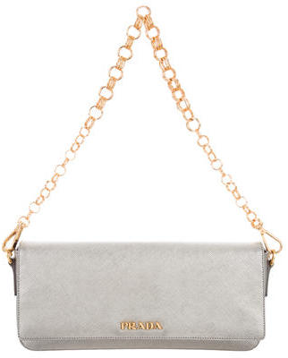 prada Prada Saffiano Chain Shoulder Bag