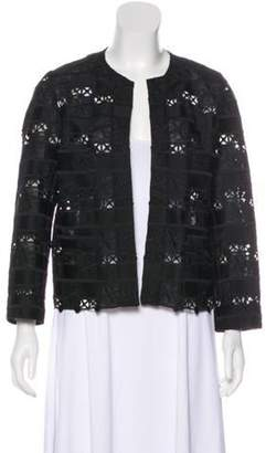 Anna Sui Embroidered Evening Jacket Black Embroidered Evening Jacket