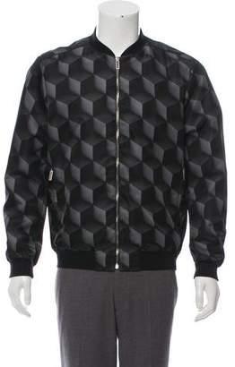 Christopher Kane Geometric Print Bomber Jacket