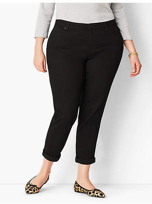 Talbots Plus Size Girlfriend Jean - Curvy Fit/Black