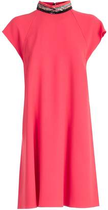 Emporio Armani Sequined Collar Dress