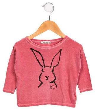 Bobo Choses Girls' Rabbit Print Top