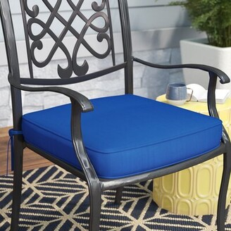 "Mercury Row Indoor/Outdoor Sunbrella Dining Chair Cushion Mercury Row Size: 19"" W x 19"" D, Fabric: Melon"