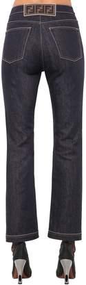 Fendi High Waist Cotton Denim Jeans