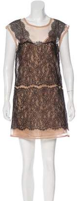 BCBGMAXAZRIA Sleeveless Lace Mini Dress