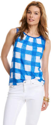 Vineyard Vines Painted Gingham Print Top