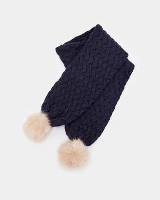 Ted Baker PIIPPA Knitted pom pom scarf