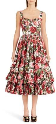 Women's Dolce&gabbana Floral Print Poplin Dress $2,995 thestylecure.com
