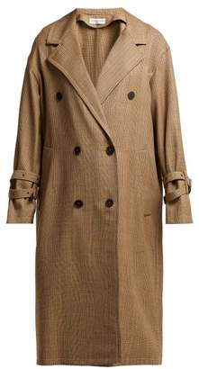 Sonia Rykiel Double Breasted Prince Of Wales Check Wool Coat - Womens - Beige Multi