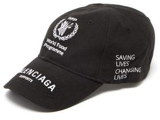 Balenciaga - World Food Programme Logo Baseball Cap - Mens - Black Multi