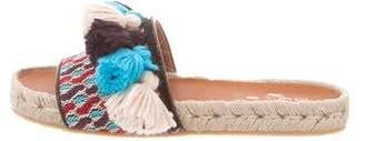 Etro Tassel-Embellished Slide Sandals w/ Tags