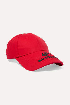 Balenciaga Embroidered Cotton-twill Baseball Cap