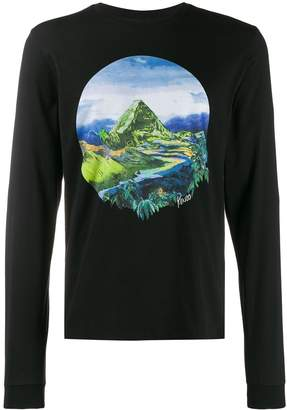 Kenzo Painted Landscape long-sleeved T-shirt