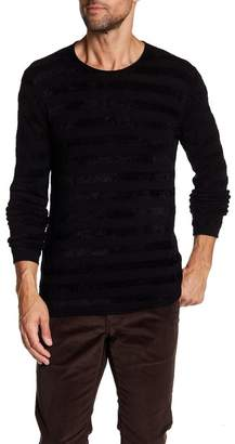 John Varvatos Collection Stripe Crew Neck Shirt