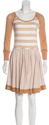 Zac Posen Z Spoke by Stripe Knee-Length Dress