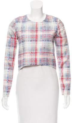 Nicholas Long Sleeve Checker Print Top
