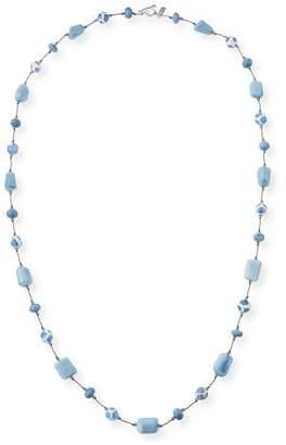 Margo Morrison Opal & Agate Stone Necklace, Blue