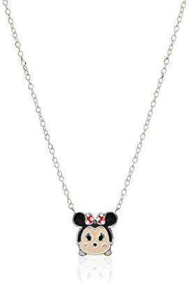 Disney Sterling Silver Tsum Tsum Donald Duck Enamel Station Chain Necklace