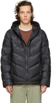 Woolrich John Rich and Bros Black Down Chevron Jacket