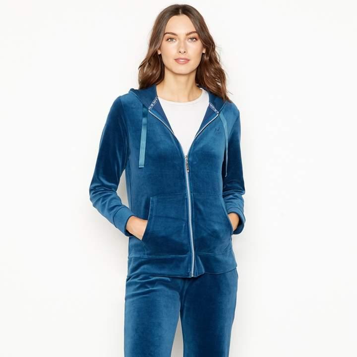 MAINE Turquoise Hooded Tracksuit Jacket