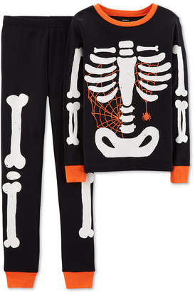 Carter's Little Boy 2-Pc. Skeleton Glow In The Dark Pajamas Set