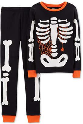 Carter's Little Boy 2-Pc. Skeleton Glow In The Dark Pajamas Set