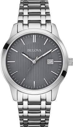 Bulova 96B224 Classic Stainless Steel Grey Dial Men's Watch