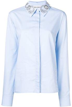 Paco Rabanne embellished collar shirt