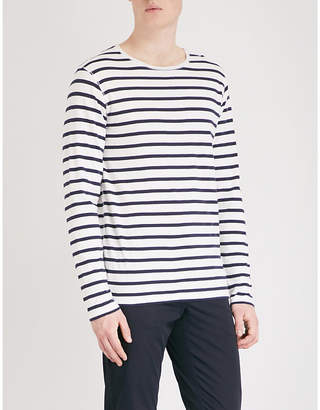 Burberry Hadworth striped cotton-jersey top