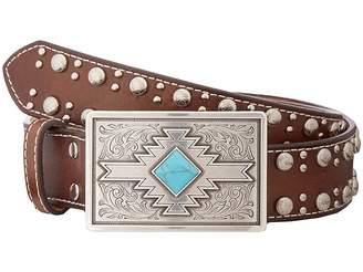 M&F Western Studded Edge Aztec Buckle Belt