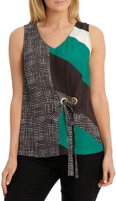 Tank Top With Eyelet Detail