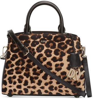 DKNY Paige Medium Leopard Satchel