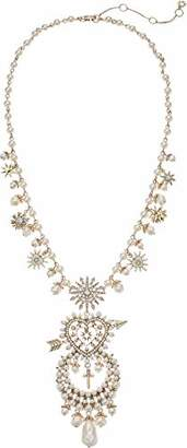 "Marchesa Women's White 22"" Drama Pendant Necklace"