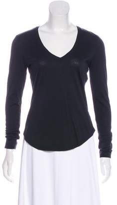 7 For All Mankind V-Neck Long Sleeve Top